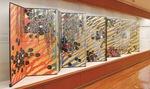 展示中の平松さんの作品『モネの池を走るホクサイの雲』