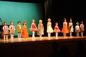 Members of Odawara Junior Opera on stage