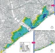 「高潮浸水」想定図を初作成
