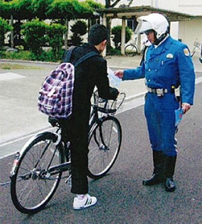 自転車マナーに注意