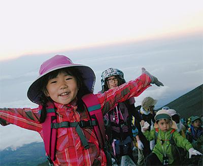 未来っ子が富士登山