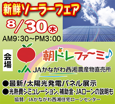 旬の太陽光発電をお届け!