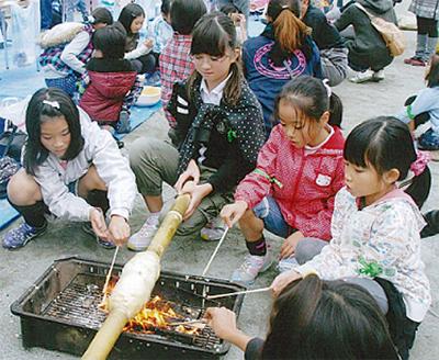 富士見小学校でサバイバル体験