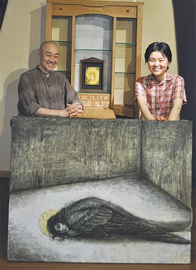 父と娘「木と絵の語らい」