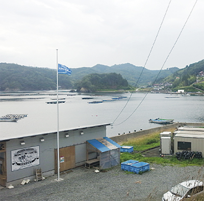 津波の高さ示す旗