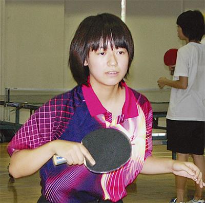 卓球で最後の夏に大輪