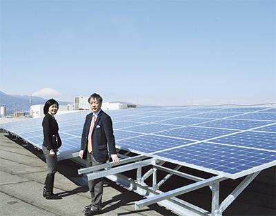 災害に備え太陽光稼働