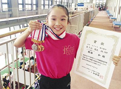蛭海さん(千代小5年)が日本一