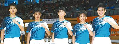 団体戦で県3連覇