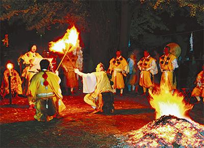 息災祈り、火渡り儀式