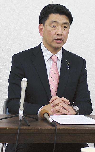 現職・加藤氏が立候補表明