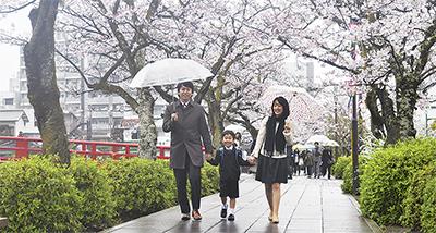 桜トンネル、希望で混雑