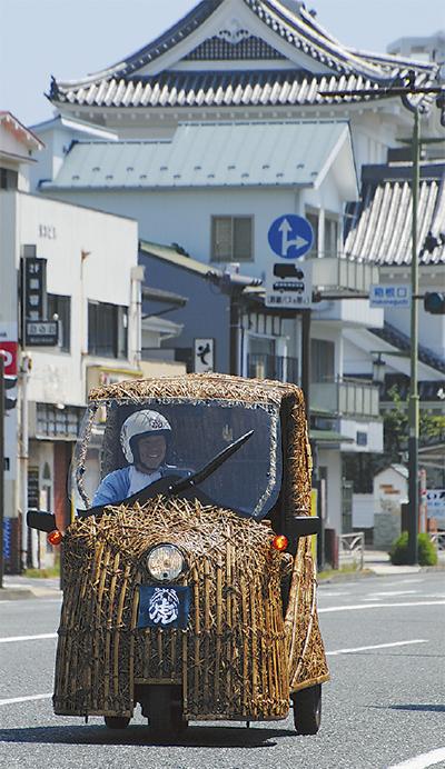 竹製自動車で箱根越え