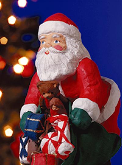 サンタが家にやって来る