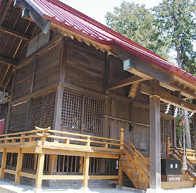 諏訪神社が改修完了