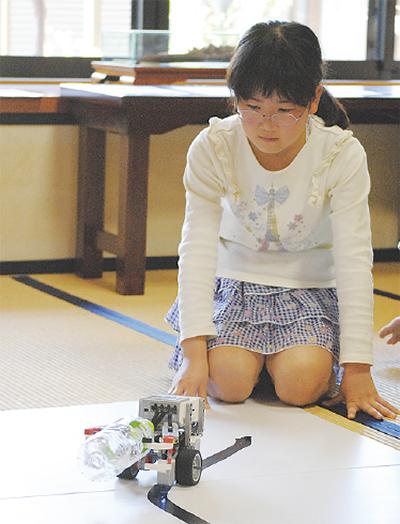 寺でロボット教室開催