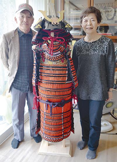 合田さんの甲冑を製作