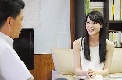 矢島舞美さんが表敬訪問