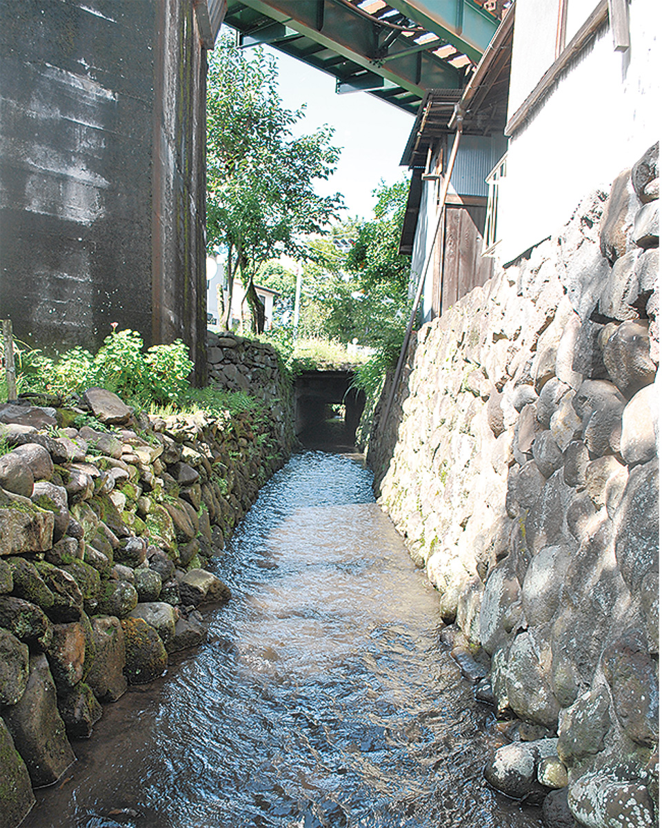 城下潤した用水と旧街道