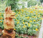 岸地区(岩流瀬)の県道小田原・山北線の花壇