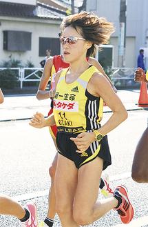 レースを引っ張った日本のエース、尾崎好美選手