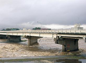 増水した酒匂川(写真は昨年9月)