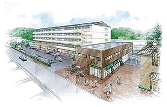 山北駅北側用地基本構想のイメージ図