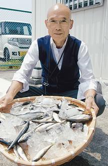 「アユ釣り楽しんで」と篠本組合長