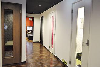 1室ごとに異なるテーマの個室