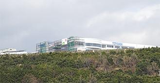 河村城址方面から丸山山頂を望む =1月27日撮影