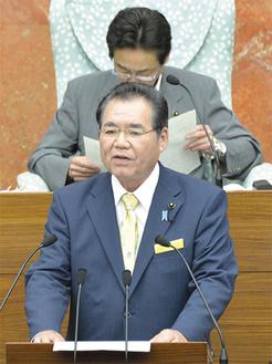 6月26日の本会議では、新人トップとして一般質問に初登壇しました