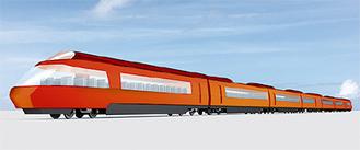 新型ロマンスカー70000型の外観イメージ※画像は岡部憲明アーキテクチャーネットワーク、小田急電鉄提供