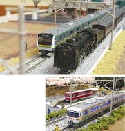 鉄道模型を展示