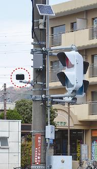 和田河原駅前の交差点には2台設置されている