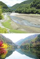 丹沢湖の水位低下