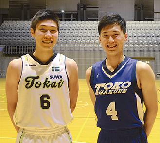 加藤(左)と伊藤=9月4日撮影