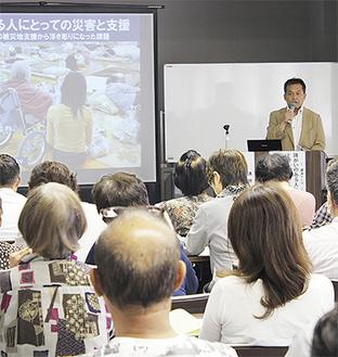 小野理事長が経験談を話した