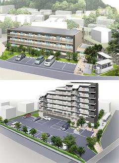 籠場地区住宅(上)と町屋地区住宅(下)のイメージ