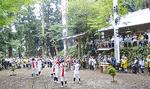神明社のお峯入り奉納 =10月8日