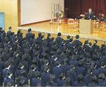 式典には全校生徒が参加