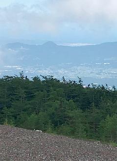 須走口五合目の小富士から足柄平野方面を望む