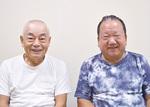 湯川会長(左)と中村副会長(右)