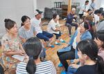 民泊で交流を深めた学生と相和地区の住民