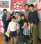企画展保・幼稚園部門で大賞を受賞した實方優大くんの家族