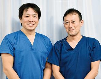 外科の高田賢医長と鈴木喜裕医長