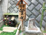 「蛍の水」湧水地を整備