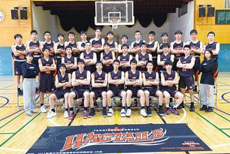 大会に挑む男子バスケットボール部のメンバー