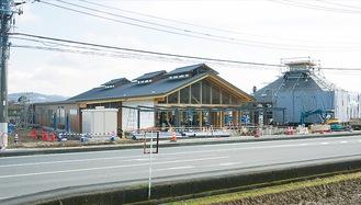 工事が進む南足柄市竹松の道の駅