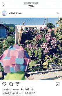 7月10日に投稿された紫陽花を見送るシーン