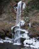 夕日の滝も冬の表情